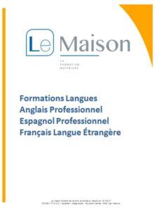 Formation anglais catalogue